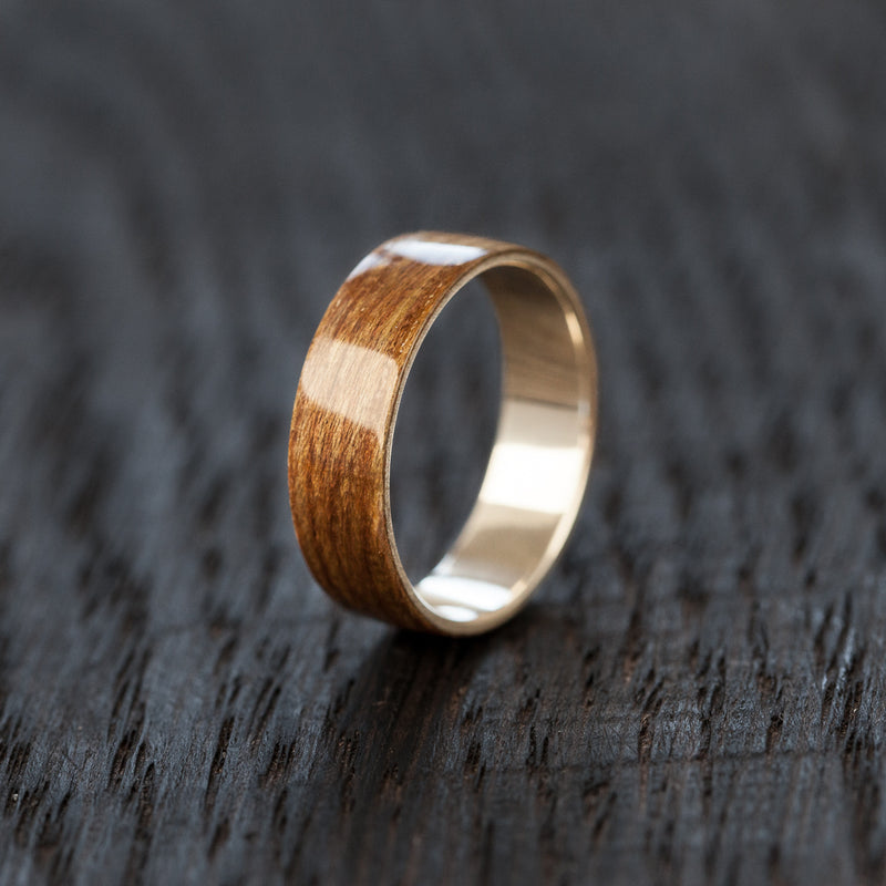 Brown Recycled Skateboard Bentwood Ring - BoardThing