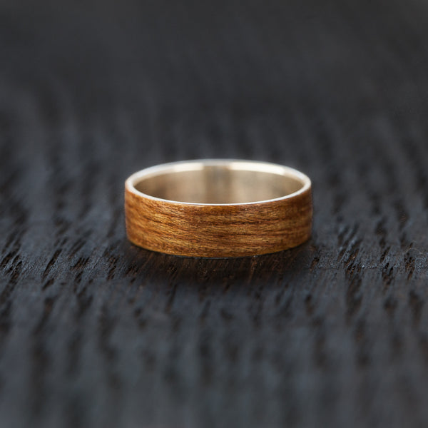 BoardThing Custom skateboard bentwood & silver ring - BoardThing