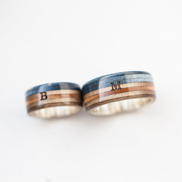 Custom silver band ring