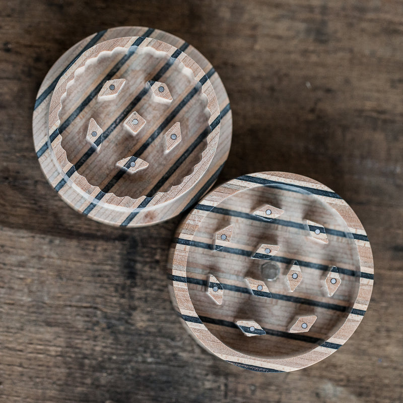 Recycled skateboard herb grinder (multicolor) - BoardThing