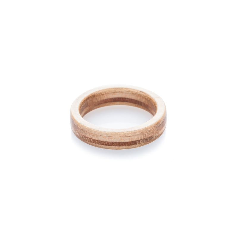 BoardThing wooden recycled skateboard ring - BoardThing