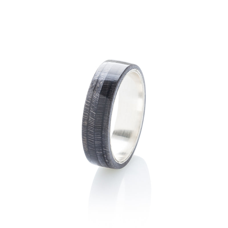 Skateboard ring - Black wood & silver | Boardthing - BoardThing