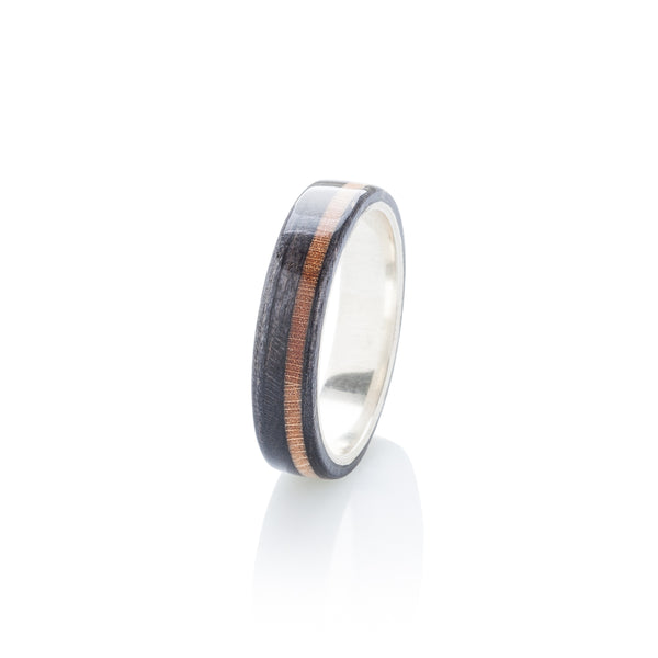 Skateboard ring - black - brown & silver | Boardthing - BoardThing