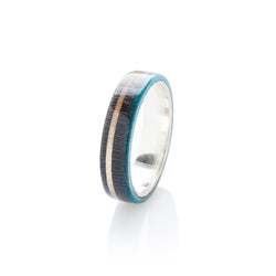 Skateboard silver ring - Black - Turquoise wood | Boardthing - BoardThing