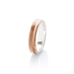 wooden & silver skateboard ring - BoardThing
