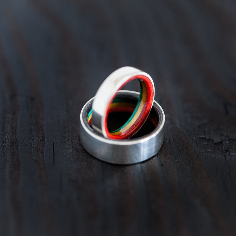 Create your own Custom silver skateboard ring - BoardThing
