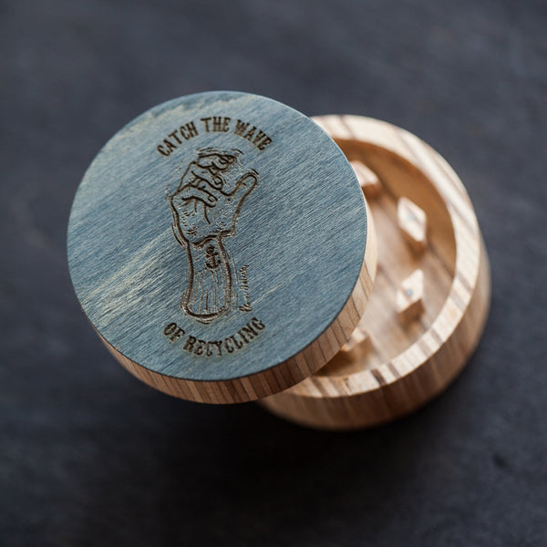 BoardThing recycled skateboard herb grinder (classic) - BoardThing