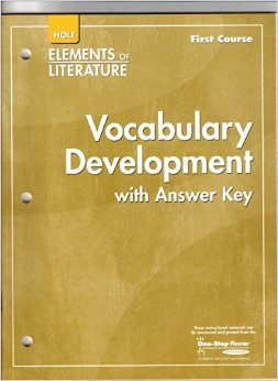 Elements Of Literature: Vocabulary Development First Course