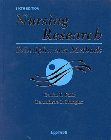 Nursing Research: Principles And Methods