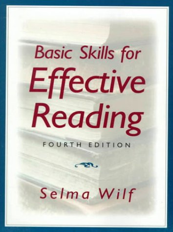 Basic Skills For Effective Reading (4Th Edition)