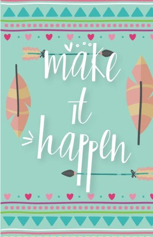 Make It Happen Inspirational Quotes Journal Notebook, Dot Grid Composition Book Diary (110 Pages, 5.5X8.5): Pocket Blank Notebook /Planner/Gratitude Journal To Write In And Much More Multi-Purpose