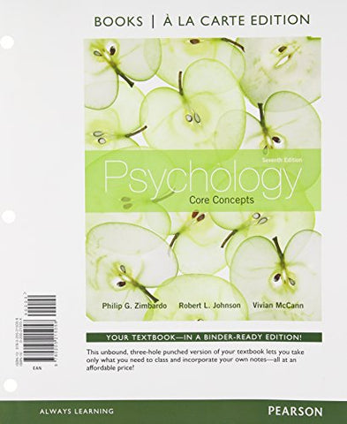 Psychology: Core Concepts, Books A La Carte Edition (7Th Edition)