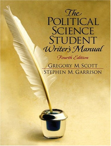 The Political Science Student Writer'S Manual (4Th Edition)