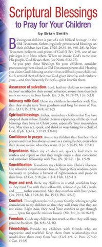 Scriptural Blessings To Pray For Your Children (Prayer Cards)