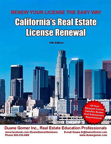 California'S Real Estate License Renewal (Volume 7)