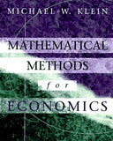 Mathematical Methods For Economics (The Addison-Wesley Series In Economics)