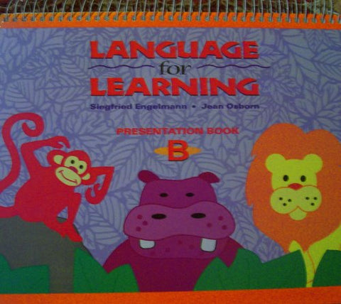 Language For Learning - Presentation Book B