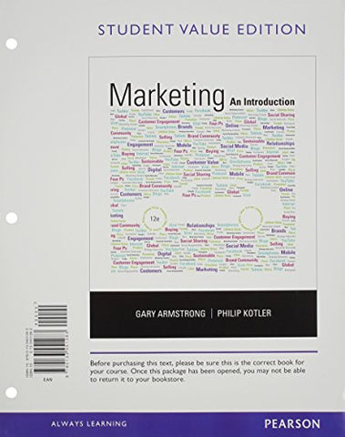Marketing: An Introduction, Student Value Edition (12Th Edition)