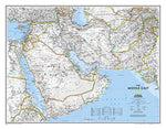 National Geographic: Middle East Classic Wall Map - Laminated (30.25 X 23.5 Inches)