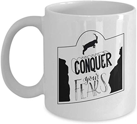 Adventure Present Mug 11 Oz - Conquer Your Fears