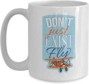Adventure Mug 15 Oz - Don'T Just Exist Fly