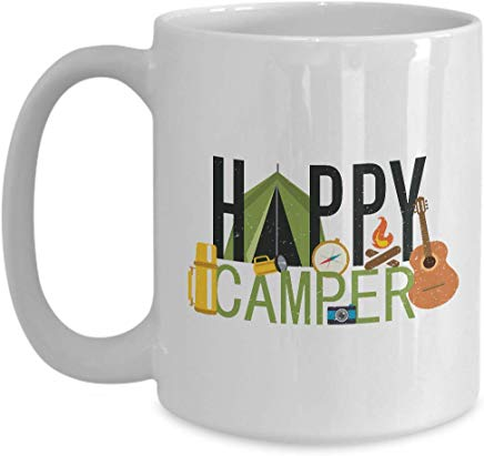 Adventure Present Mug 15 Oz - Happy Camper