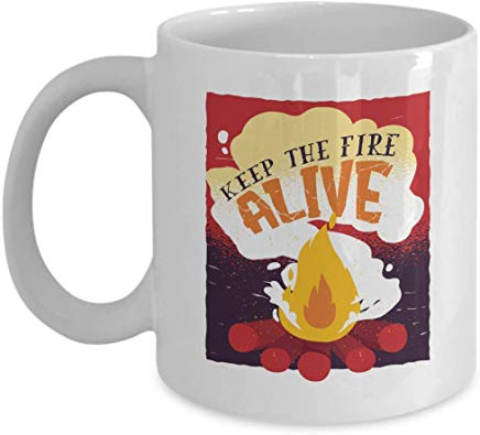 Adventure Gift Mug 11 Oz - Keep The Fire Live