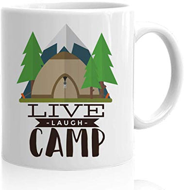 Adventure Gift Mug 11 Oz - Live Laugh Camp