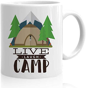 Adventure Coffee Mug 15 Oz - Live Laugh Camp