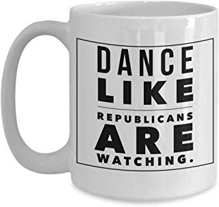 Alexandria Cortez Gift 15 oz - Dance like republicans are watching.