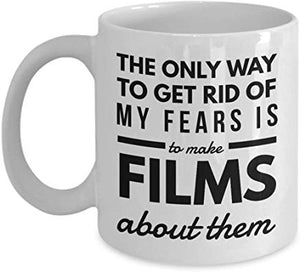 Alfred Hitchcock Present 11 oz - The only way to get rid of my fears is to make films about them