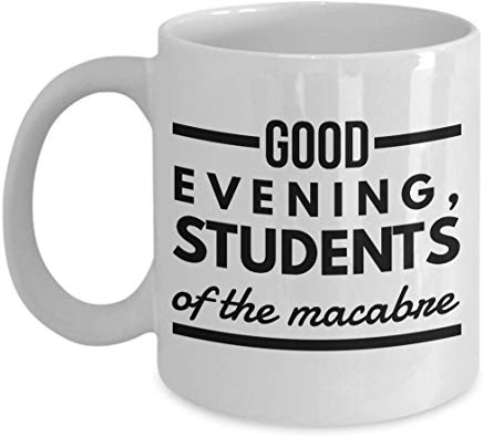 Alfred Hitchcock Gift 11 oz - Good evening, students of macabre