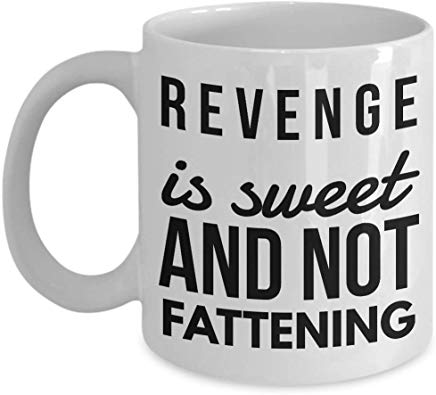 Alfred Hitchcock Coffee Mug 11 oz - Revenge is sweet and not fattening