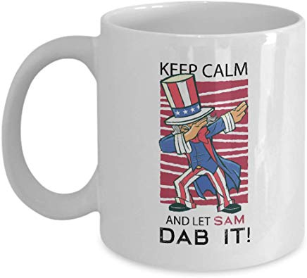 Uncle Sam Present 11 oz - Keep calm and let sam Dab it !
