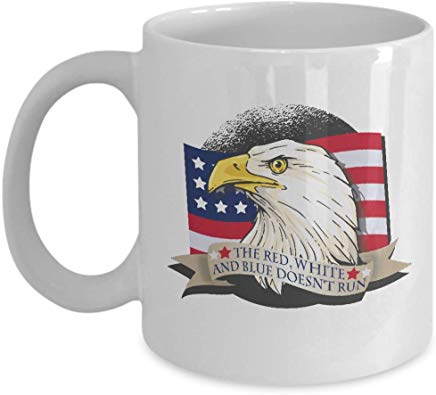 American Eagle Coffee Mug 11 oz - The red white and blue doesn't run