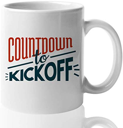 American Football Coffee Mug 11 oz - Countdown to kickoff