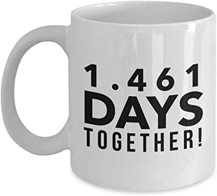 4Th Anniversary Mug 11 Oz - 1.461 Days Together