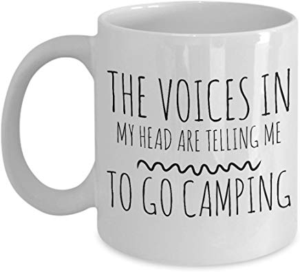 Camping Mug 11 Oz - The Voices In My Head Are Telling Me