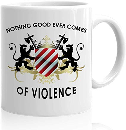 Martin Luther King Jr Mug 15 Oz - Nothing Good Ever Come Of Violence