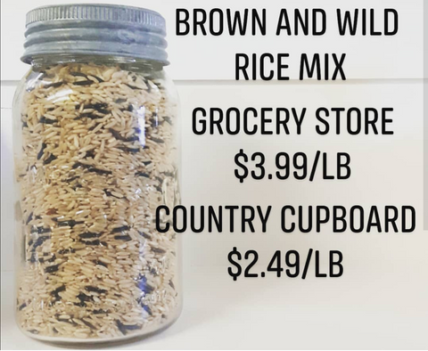 Brown and wild rice mix