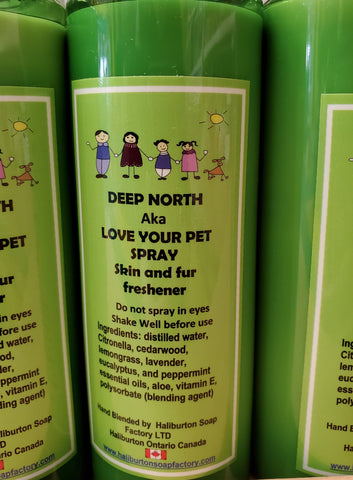 Haliburton Soap Factory Deep North Bug Spray