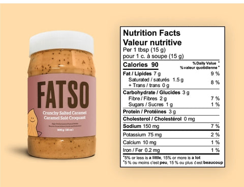 Fatso High Performance Crunchy Salted Caramel Peanut Butter