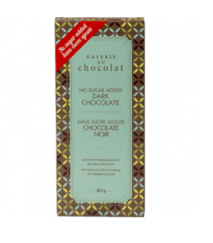 Galerie au Chocolat Sugar Free Dark Chocolate Bar