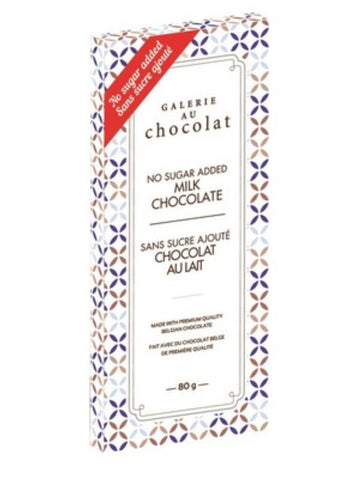 Galerie au Chocolat Sugar Free Milk Chocolate Bar