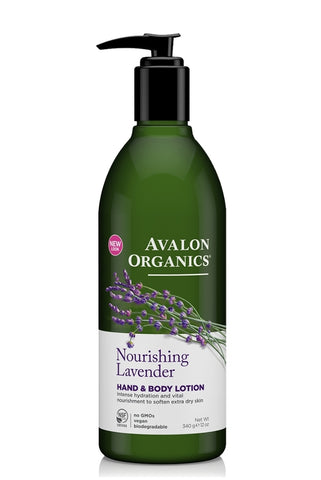 Avalon Organics Hand & Body Lotion Nourishing Lavender