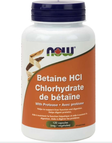 Now Betaine HCI Chlorhydrate with protease
