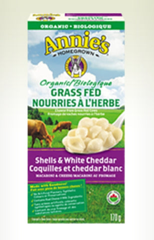 Annie's HomeGrown Organic Grass Fed Shells and White Cheddar