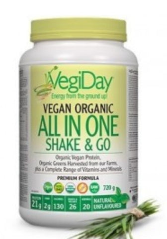 VegiDay Vegan Organic All In One Nutrition Shake Vanilla 860g
