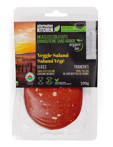 Alternative Kitchen Salami Meatless Cold Cut Slices 100g *contains egg*