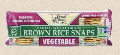 Edward & Sons Organic Brown Rice Vegetable Snaps 99g